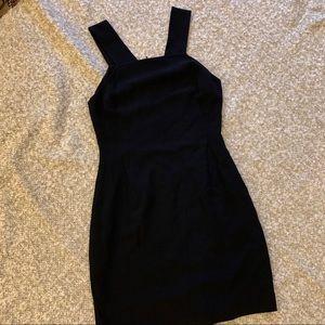 Theory black dress w/Y shoulder strap detail, sz 4